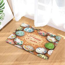 Vibrant Colorful Easter Eggs Non-Slip Outdoor Indoor Front Door Mat bathroom