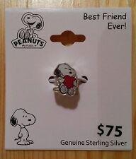 Snoopy mit Herz / Peanuts - 925 Sterling Silber Ketten - Anhänger / Neu & OVP !!