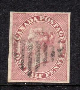 COLONY of CANADA 1857  ½d. V.F. Used SG 17 Superb Quality  No Hidden Faults NICE