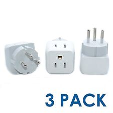 Ceptics USA to Israel, Palestine Travel Adapter Plug - Type H (3 Pack) - Dual In