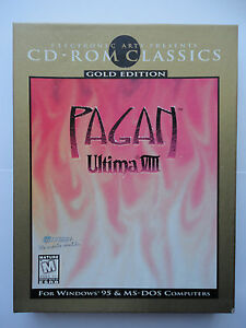 Ultima VIII 8 Pagan Gold Edition Big Box Game for Windows PC & MS-DOS CD-ROM VGC