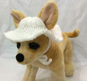 Pet Clothes Outfit Hand Knit Brim Hat for Small Dogs and Cats XXS XS S