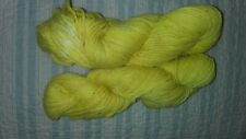 Lot of 2 Skeins Of Hand Dyed Sunny Yellow Cotton Yarn