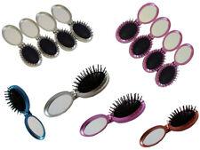 250pcs Folding Hair Brush with Mirror Travel Hair Brush Wholesale Mixed Colours