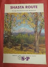 """SOUTHERN PACIFIC RAILROAD TRAVEL POSTER - SHASTA ROUTE - VINTAGE - 23"""" X 16"""""""