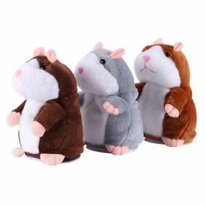 Kids Talking Hamster Plush Toy Sound Record Speaking Hamster Talking Toys Gifts