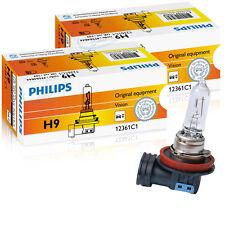 Philips H9 12v 65w pgj19-5 visión original Equipamiento juego de 2 12361c1