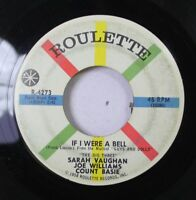 Jazz 45 Sarah Vaughan - If I Were A Bell / Teach Me Tonight On Roulette
