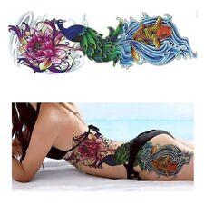 Blume Einmal Tattoos Blumen Temporary Temporäre Tattoo Sticker Wasserfest HB #