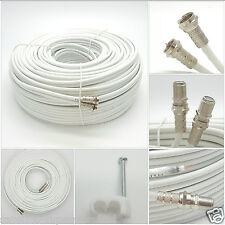 3m SKY+ or HD twin shotgun Satellite cable in  White NEW !Fast & Free