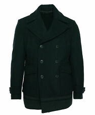 Calvin Klein Men's Double Breasted Wool Blend Pea Coat Navy Size Small