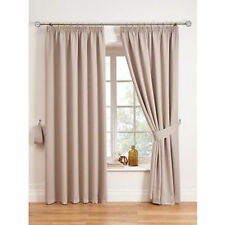 """Woven Pleated Blackout Curtains Latte 90 x 72"""" SS04 60"""