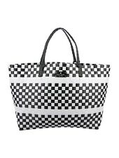 Kate Spade New York NEW Black & White Extra Large Woven Canvas Tote NWOT