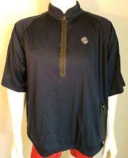 Sun Mountain Golf Jacket 1/4 Zip Pullover Rainflex Pro Mens XL Blue Short Sleeve