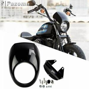 Headlight Fairing Front Cowl Fork Mount For Harley Sportster Dyna XL 883 XL 1200