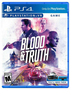 Blood & Truth -- Standard Edition (Sony PlayStation 4, 2019) VR NEW FREE SHIP