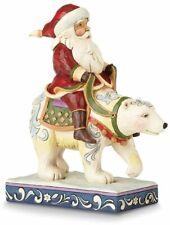 Heartwood Creek Santa Riding Polar Bear Figurine