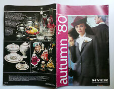 1980 vintage MYER 56 page Catalogue Catalog Fashion Clothes Furniture Art 1980's