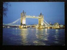 POSTCARD LONDON TOWER BRIDGE VIEW ALONG THE THAMES