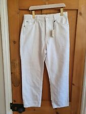 River Island. High Rise Mom Jeans. White. Brand New With Tags £40. Uk 14 s