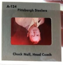 CHUCK NOLL 1977 Transparency TV MEDIA SLIDE - PITTSBURGH STEELERS