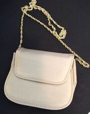 Small Cross Over Shoulder Bag  Gold Shimmer With Gold Chain Strap