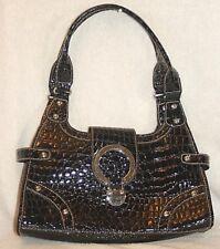 CROCODILE  Embossed Shoulder Bag * VERY GOOD COND