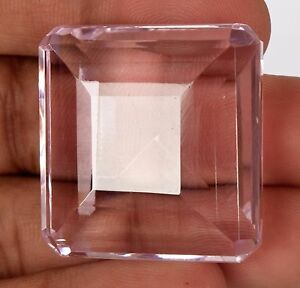 Square Cut Baby Pink Topaz 151.5 Ct Beautiful Color Faceted Gemstone CB-361