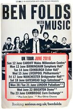 BEN FOLDS Tour Flyer LONDON PALLADIUM  Theatre Flyer Handbill