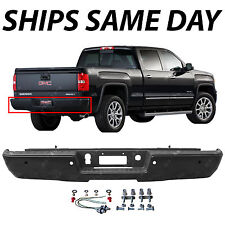 NEW Primered Rear Bumper for 2014-2017 Chevy Silverado Sierra 1500 Truck NO Step