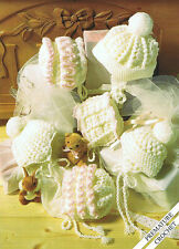 Baby girls crochet bonnets and helmets dk crochet Pattern premature - 6 mths 167