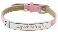 Expect Miracles Pink Bracelet