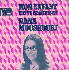 """NANA MOUSKOURI – Mon Enfant / Try To Remember (1969 SINGLE 7"""" DUTCH PS)"""