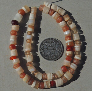 a strand of selected rare ancient tiny tiny agate crystal stone beads mali #4916