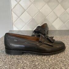 Cole Haan Mens Pinch Tassel Loafer Dress Shoes Black Leather Moc Toe Slip On 10D