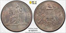 PCGS Guatemala 1894 H Heaton Mint Un Peso Seated Liberty Silver Coin MS61 #1