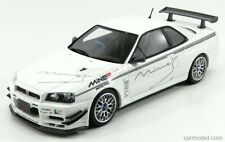 1:18 Scale Nissan Skyline GT-R R34 Mine'S White OttOmobile Resin Model OT760 New