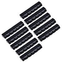 10 Pcs Guitar Nut for Acoustic Electric Guitar Parts 43mm Slotted Plastic Black