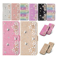 Luxury Bling Diamond Leather Wallet Case Cover For iPhone X XS Max XR 7 8 6 Plus