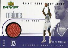 1999-00 UPPER DECK MVP GAME USED BALL SOUVENIR KARL MALONE HOF UTAH JAZZ 99-00