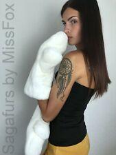 Real rex rabbit full fur mittens. White
