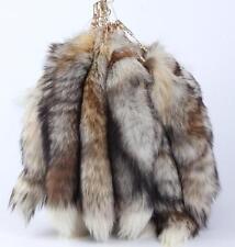 Real Fox Fur Key Chain Keying Fox Tail Handbag Pendant Accessory Tassel Bag New