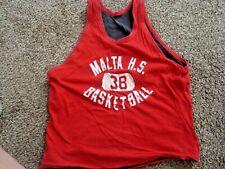 Vintage Malta High School Illinois Basketball Reversible Practice Jersey