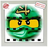 Magnetische Vitrine Motiv Ninjago für Lego Minifiguren Rahmen weiß