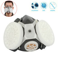 Half Face Gas Dual Filter Cartridge Work Safety Gas Chemical Respirator