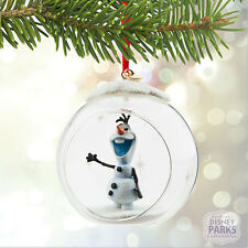 Authentic Disney Parks Collectibles Olaf Glass Globe Sketchbook Ornament