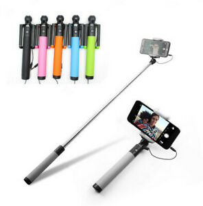 Monopod Wired Selfie Stick Compact Holder for all iPhones and Android Phones New