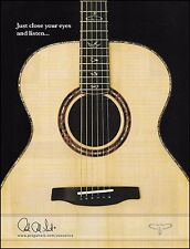 PRS Acoustic Guitar ad 8 x 11 Paul Reed Smith 2009 advertisement print