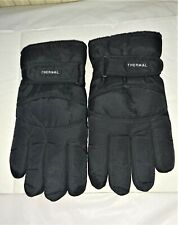 Mens Black padded Thermal fleece lined gloves size XL