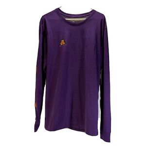 Nike ACG SASQUATCH Long Sleeve Shirt LS Night Purple Orange AQ3953-537 Men's L